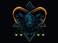 Horned Goat Sacred Geometry