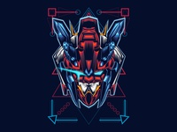 Tryon Gundam Head Sacred Geometry