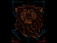 Mhytical Bear Sacred Geometry