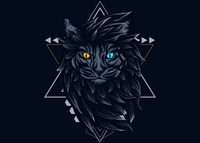 Mistic Cat Sacred Geometry