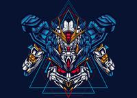 Half Gundam Sacred Geometry