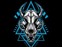 Skull Horned Sacred Geometry