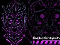Devil Mask Sacred Geometry