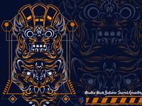 Manten Mask Balinese Sacred Geometry