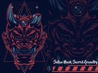 Satan Mask Sacred Geometry