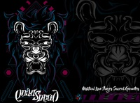 Myhtical Lion Angry Sacred Geometry
