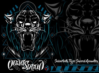 Sabertooth Tiger Sacred Geometry