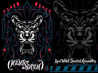 Lion Wild Sacred Geometry