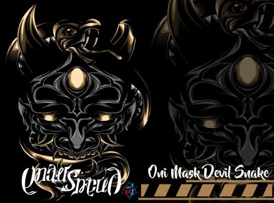 Oni Mask Devil Snake