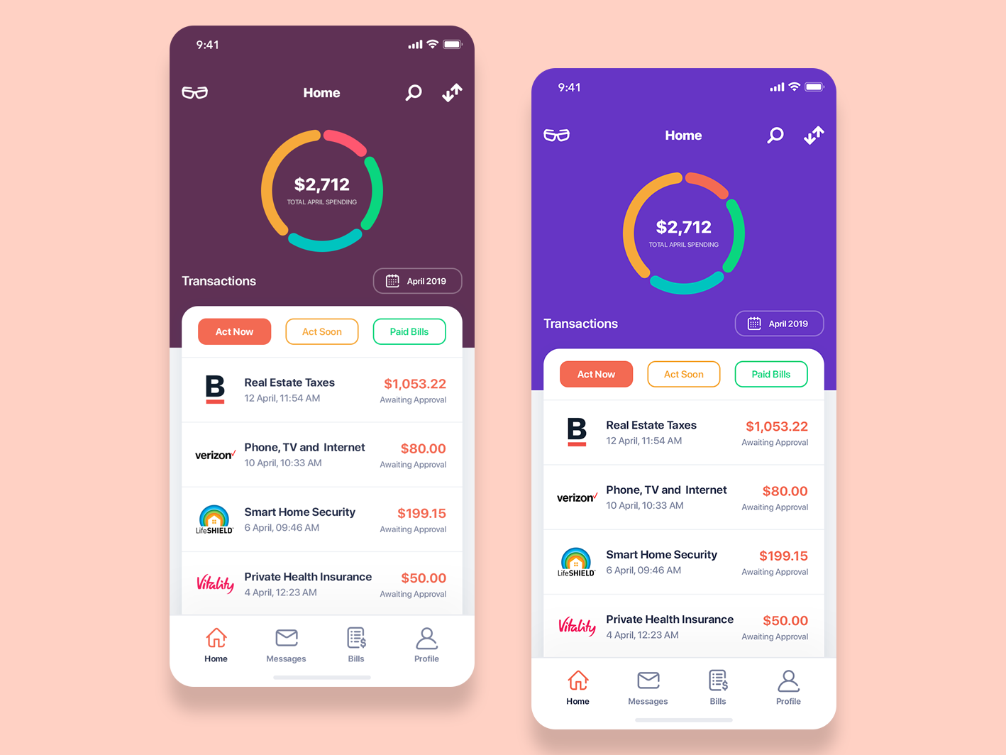 Financial App minimal flat ux ui app financial app accounting