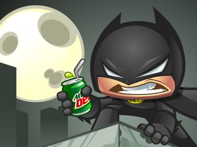 Bats vector cartoon character mascot batman dark knight coreldraw