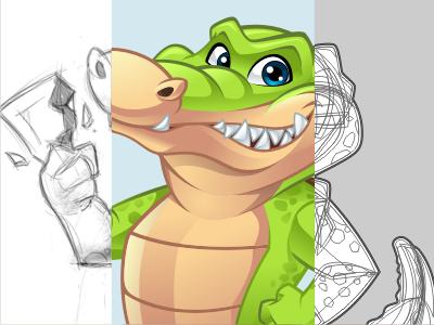Gator Mascot alligator crocodile mascot cartoon vector