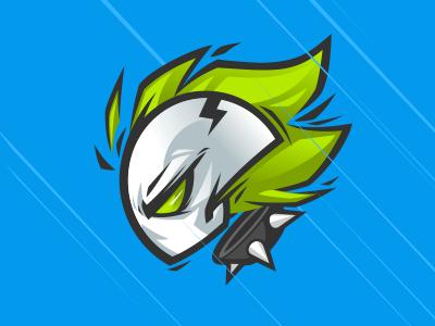 Cartoon Logo Design cartoon logo ghost rider skull flames spikes vector mascot design