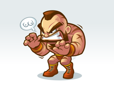 Zangief Wins street fighter zangief mascot design character design mascot vector cartoon game