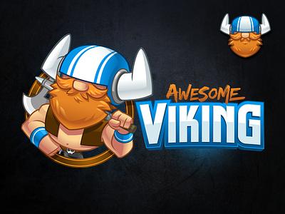 Awesome Viking - Cartoon Identity Pack  cartoon viking game character game logo gaming logo cartoon identity identity pack viking mascot character design viking mascot cartoon logo mascot design