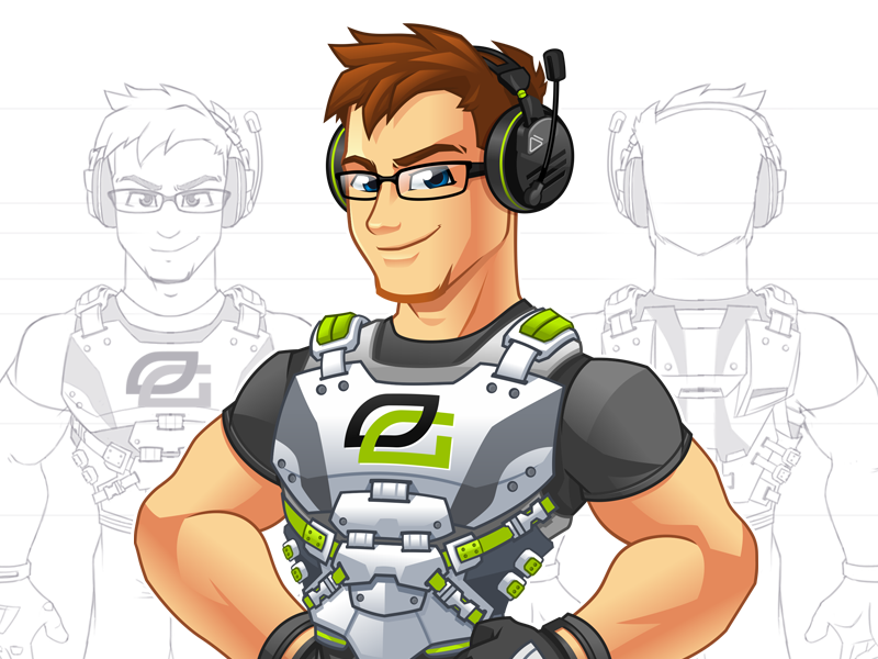 optic scump character mascot design by mark lester jarmin dribbble