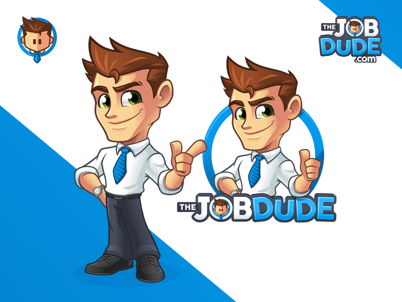the job dude mascot and logo design identity by mark lester jarmin