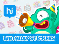 Hike Birthday Stickers   Cover By Mljarmin Illustrations