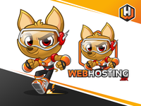 WebHostingMX - Mascot Design And Cartoon Logo Identity