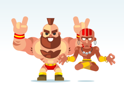 Dhalsim is Ready animation vector dhalsim zangief streetfighter aftereffects illustrator