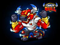 Crazy Bull - Mascot Design And Logo Identity
