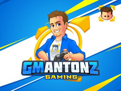 GMAntonZ - Gamer Mascot and Logo favicon vector playstation character design caricature logo design mascot design mascot gamer discord twitch