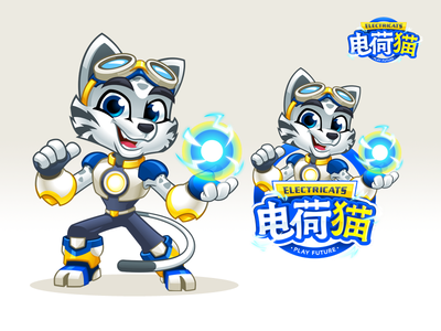 ElectriCats - Mascot Design And Cartoon Logo Identity
