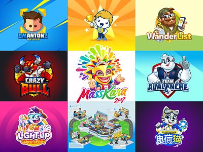 Best Nine 2017 geek yeti candy gamer scrum bestnine bestnine2017 masskara logo cartoon mascot design mascot
