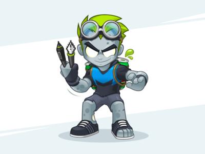 Zombillustrator V4.0 zombillustrator zombie character designer character character logo logo cartoon logo logo designer vector illustrator mascot mascot designer mascot design
