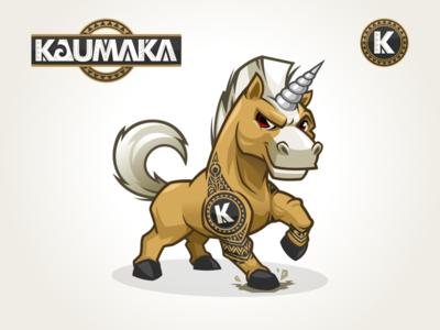 Unicorn Mascot Design Identity character design the rock tattoo maori horse unicorn mascot unicorn logo cartoon logo mascot design mascot