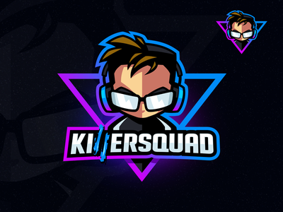 KillerSquad V2.0 | Gamer Logo twitch playstation mascot design mascot esports logo esports gamer logo favicon mixer discord character design caricature