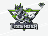 Lixender - Gamer Mascot and Character Logo