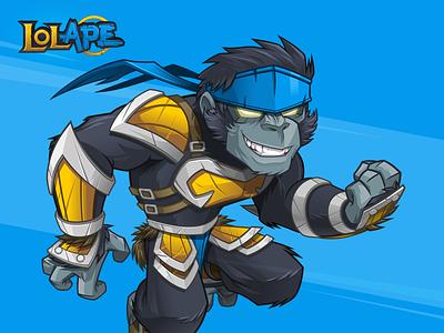 LOL Ape player mascot discord twitch mascot gamer mascot ape mascot gorilla mascot gorilla esports mascot esports logo esports gamer logo gamer league of legends character logo mascot cartoon logo character design mascot design