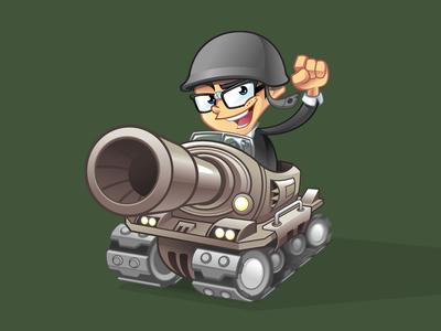 Geek Mascot Design geek soldier geek tank vector geek cartoon geek geek character nerd mascot geek mascot cartoon logo character design mascot design