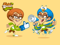 Social Media Geek Mascot