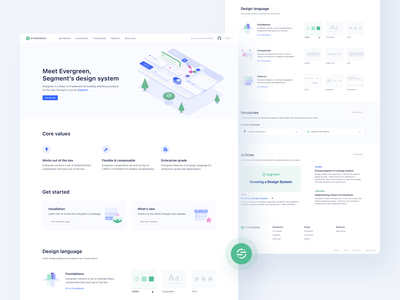 🌲 Segment — Evergreen Documentation website design website illustration typography colors animation landing page landingpage hero development components tonik evergreen segment product ux ui clean visual documentation