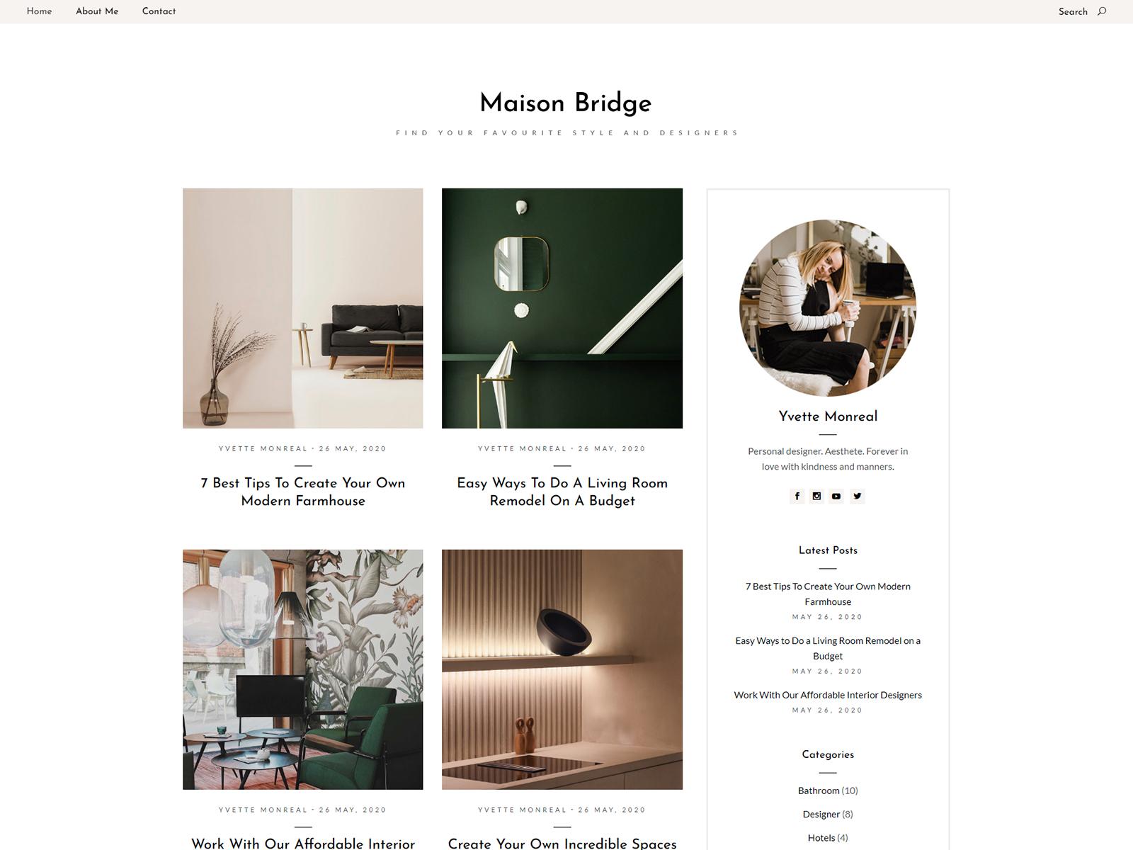 Interior Design Blog By Svetlana Vucic For Qode Interactive On Dribbble