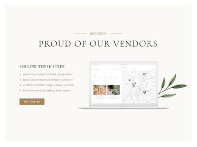 Tiare - Wedding Vendor Directory Theme website mockup venue website wordpress elegant bride map listing vendor wedding vendor wedding