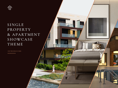 Hendon apartment home showcase elegant website mockup wordpress residental reisdence property