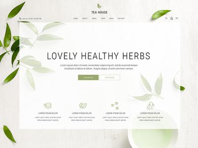 Verdure products wordpress website mockup minimal organic healthy drink tea company coffee shop beverage bistro herbs shop tea shop tea house tea