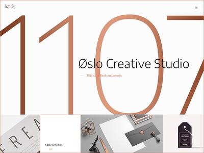 Kalós wordpress webstite mockup shop business creative packaging designer freelancer studio agency clean minimal concept portfolio