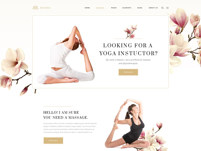 Aviana mockup template wordpress website therapy physiotherapy cosmetics products cosmetics lifestyle blog nutritionist life coach day spa hotel spa hotel wellness center wellness spa beauty shop beauty