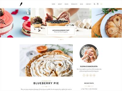 Dolcino Food Blog wordpress website sweets homemade blog food bakery pastry shop pastry cake shop cake