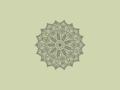 Mandala design amaziograph vector illustration mandala