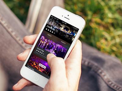 Venue lists mobile ios app ux ui