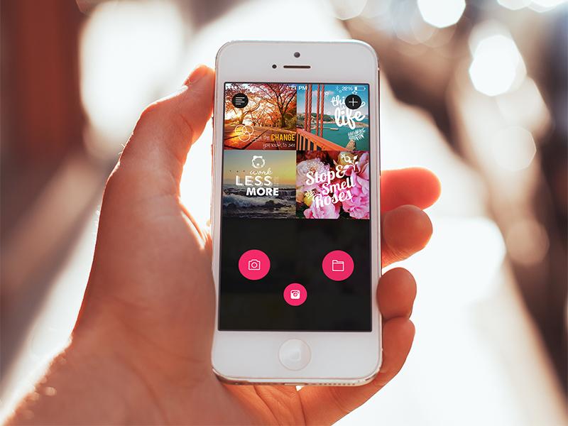 Caption mobile ios app ux ui