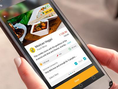 Food Carousel menu restaurant food mobile ux ui app lolipop android