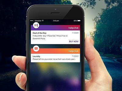 In App Notification alert in-app notification notification card ios ux ui