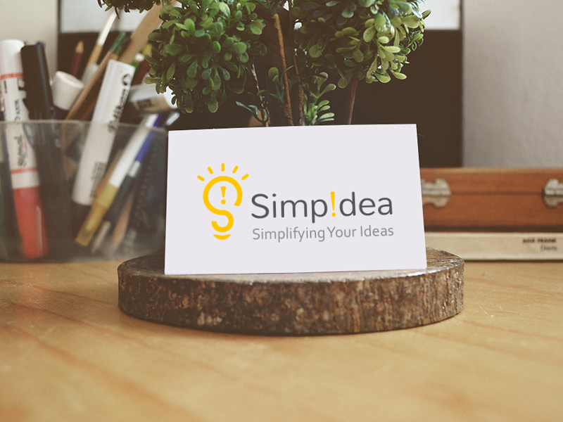 Simpidea logo design branding simple idea logo