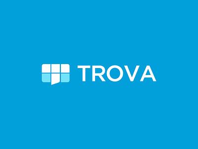 Trova branding communication logo